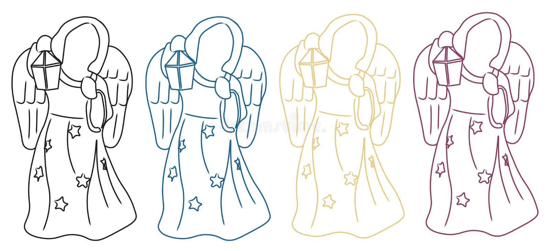Silhouette d'ange illustration de vecteur