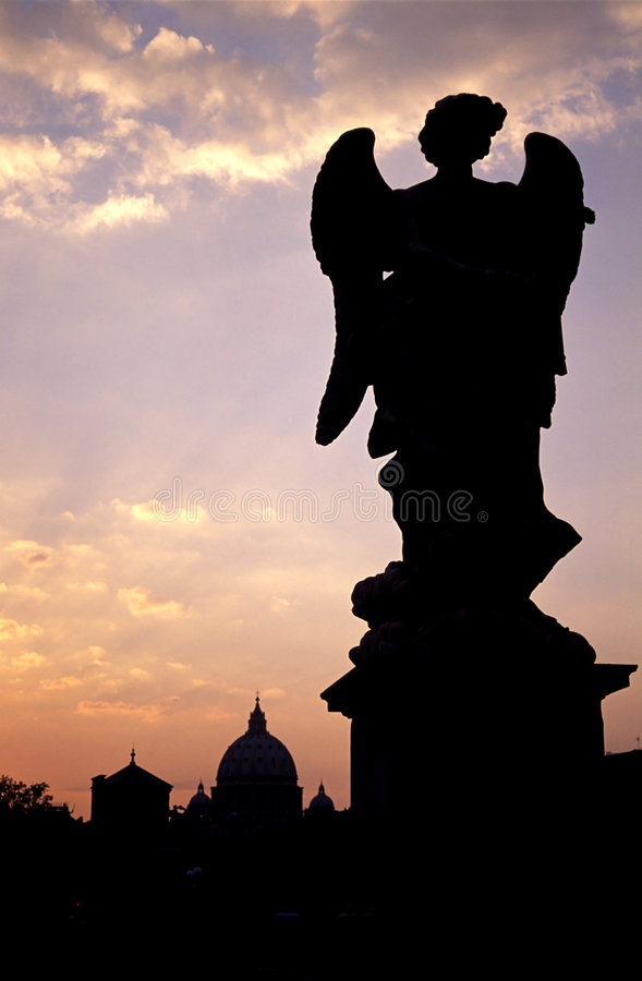 Silhouette d'ange photos libres de droits