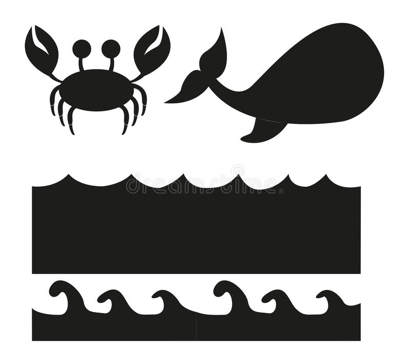 Silhouette d'animaux illustration stock