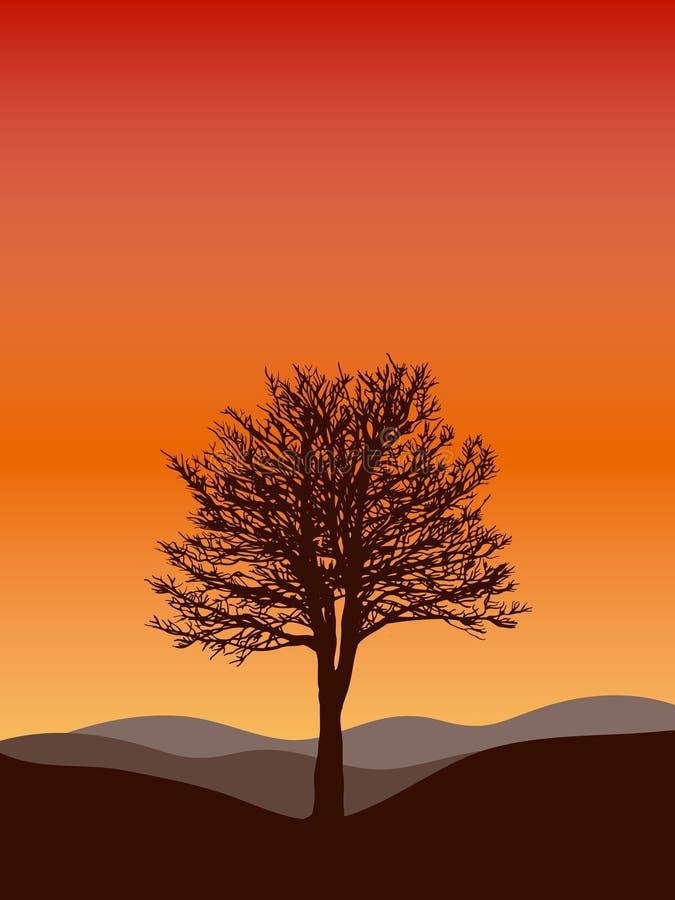 Silhouette d'arbre illustration libre de droits