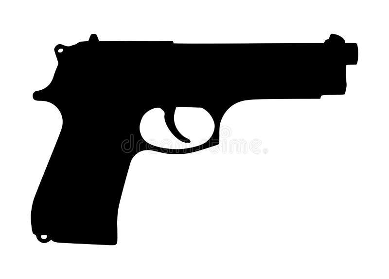Silhouette d'arme à feu illustration stock