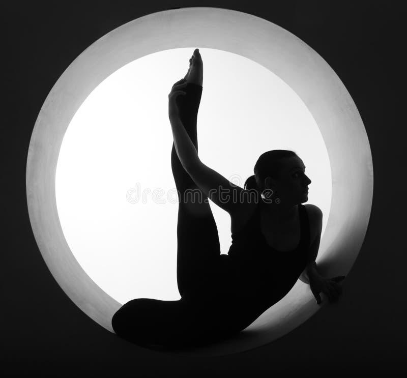 Silhouette d'athlète photo libre de droits
