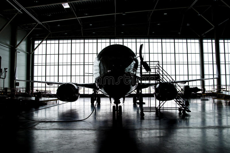 Silhouette d'avion images libres de droits