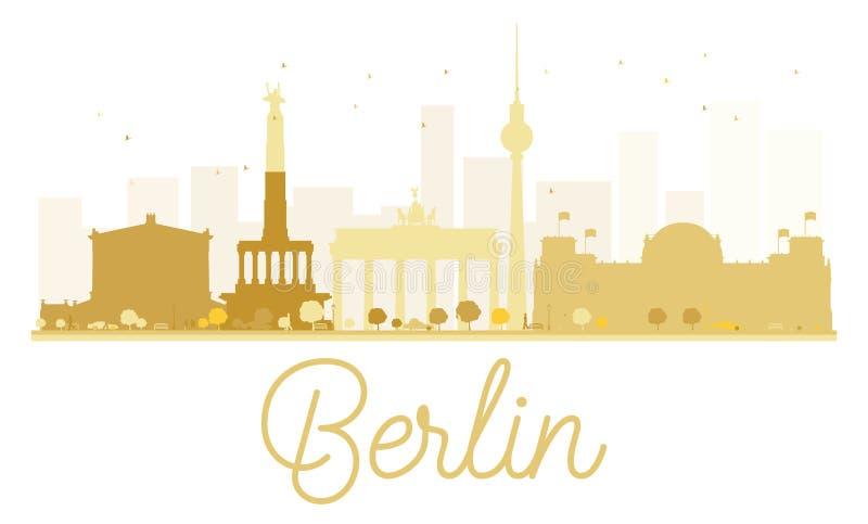 Silhouette d'or d'horizon de Berlin City illustration de vecteur