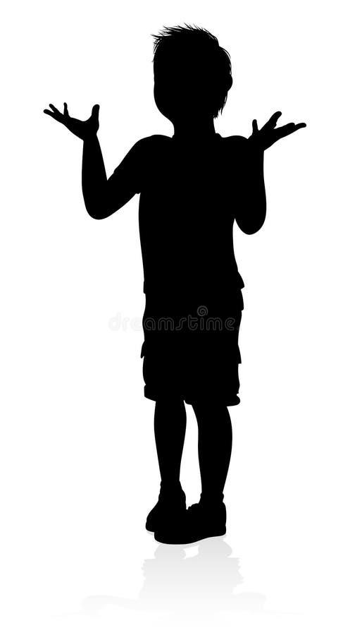 Silhouette d'enfant illustration stock