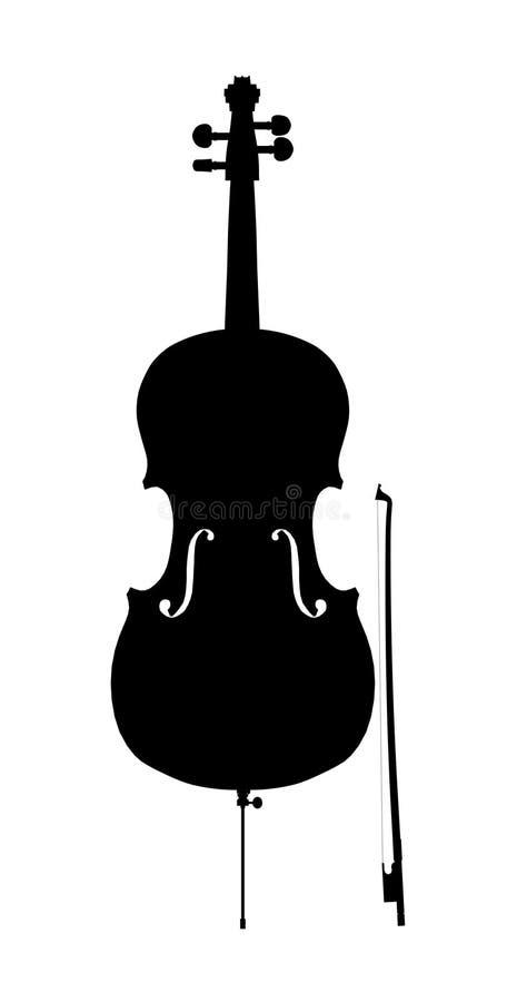 Silhouette d'ensemble de violoncelle illustration libre de droits