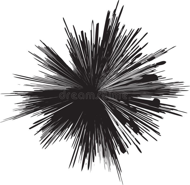 silhouette d'explosion illustration stock