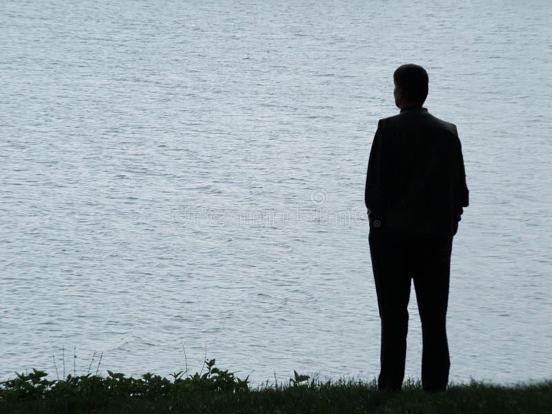 Download Silhouette D'homme à La Soirée Image stock - Image du death, garçon: 732359