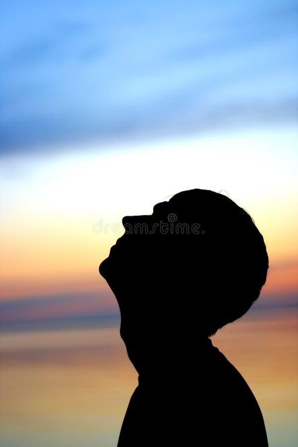 Silhouette d'homme photo libre de droits