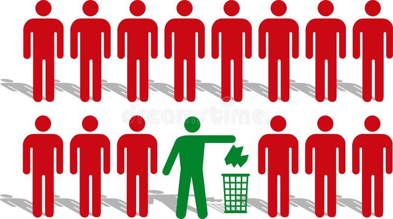silhouette d'homme illustration libre de droits