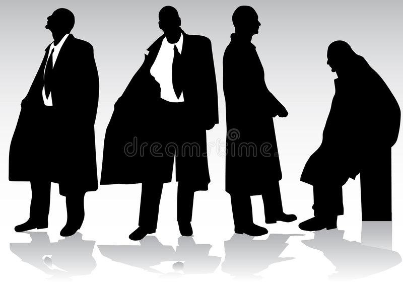 Silhouette d'homme d'affaires illustration libre de droits