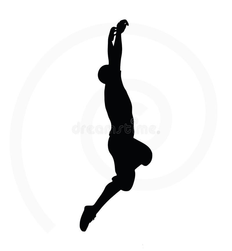 Silhouette d'homme d'isolement sur le fond blanc illustration stock