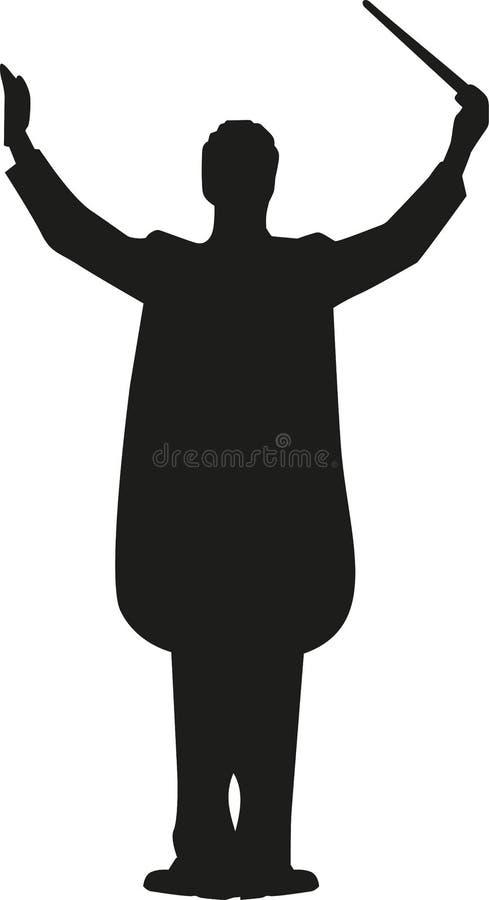 Silhouette d'homme de conducteur illustration libre de droits