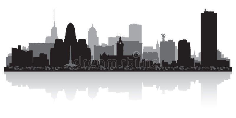 Silhouette d'horizon de New York City de Buffalo illustration libre de droits