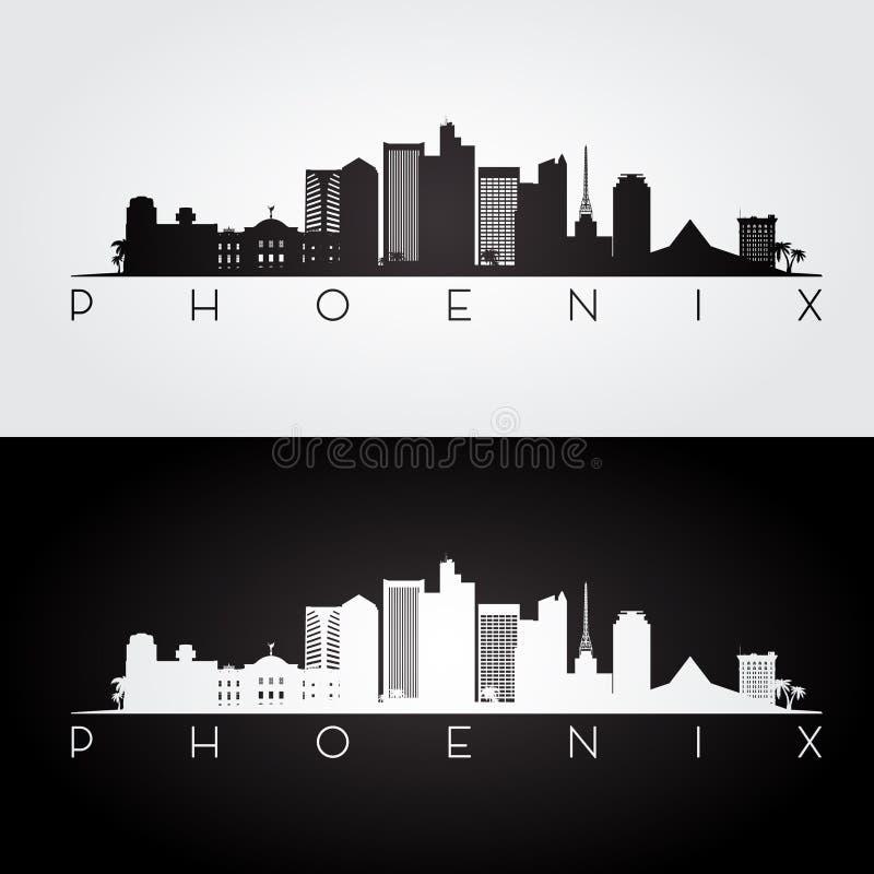 Silhouette d'horizon de Phoenix illustration stock