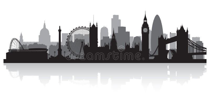Silhouette d'horizon de ville de Londres Angleterre illustration libre de droits