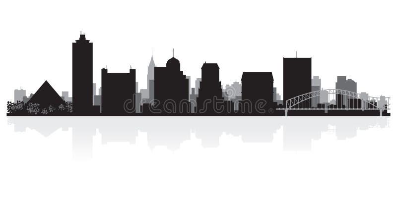 Silhouette d'horizon de ville de Memphis Tennessee illustration libre de droits