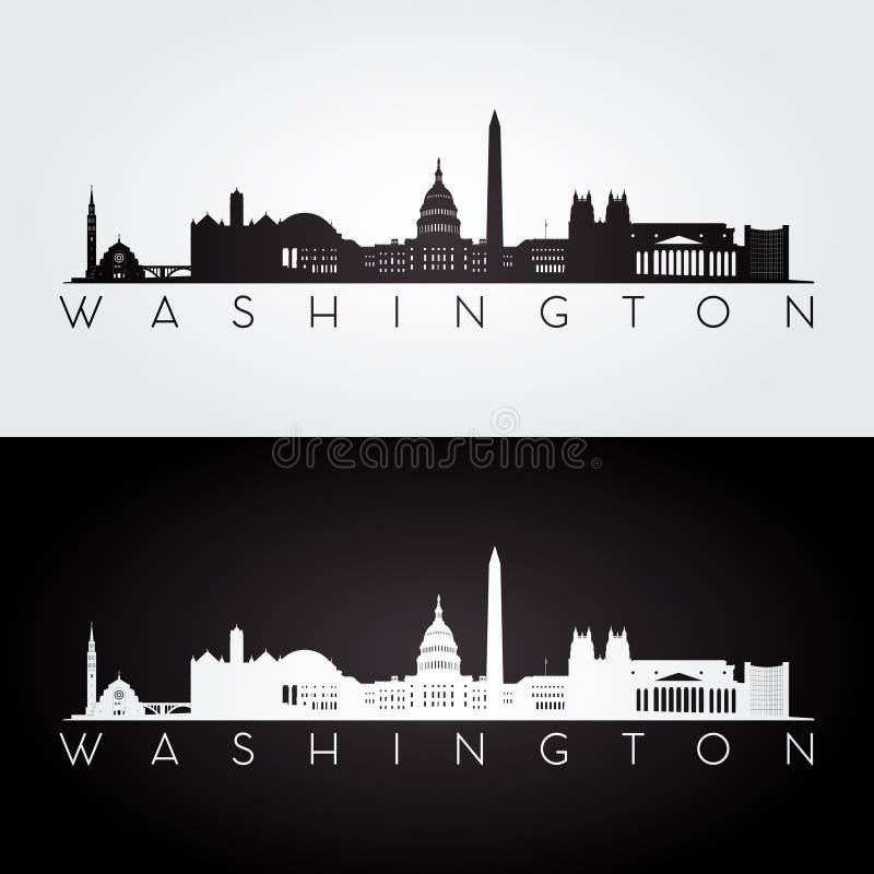 Silhouette d'horizon de Washington illustration libre de droits