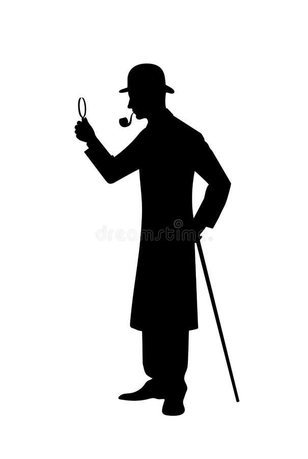 Silhouette d'illustration révélatrice de vecteur illustration de vecteur