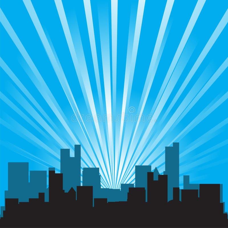 Silhouette d'immeuble de bureaux illustration de vecteur