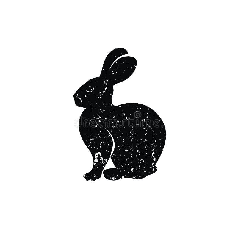 Silhouette d'insigne de lapin image stock