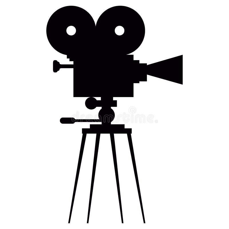 Silhouette d'isolement d'appareil-photo illustration de vecteur