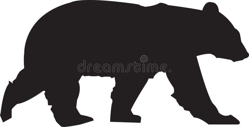 Silhouette d'ours photo libre de droits