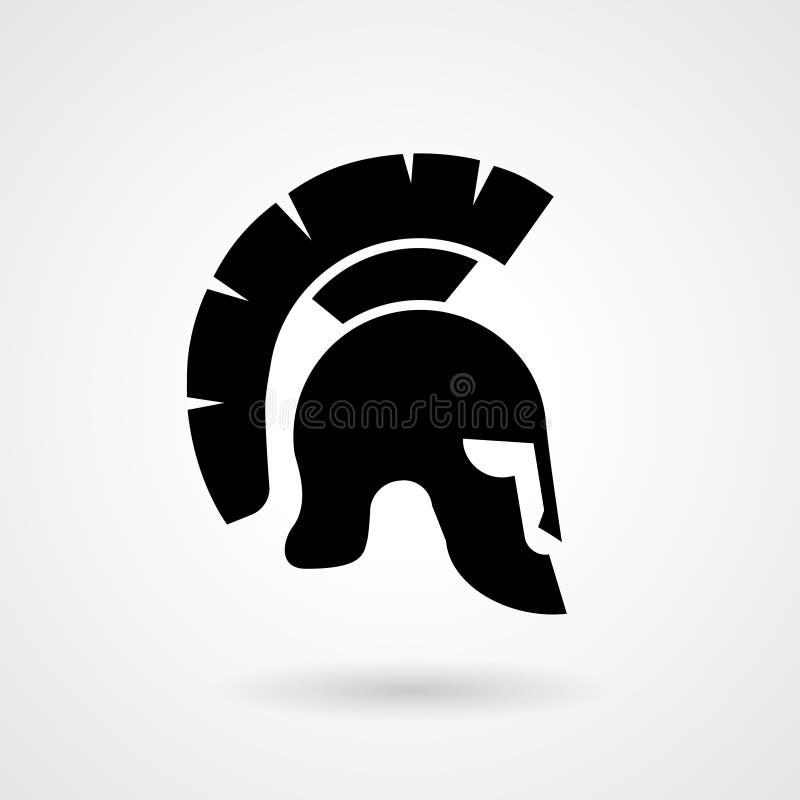 Silhouette d'un casque romain ou grec antique illustration libre de droits