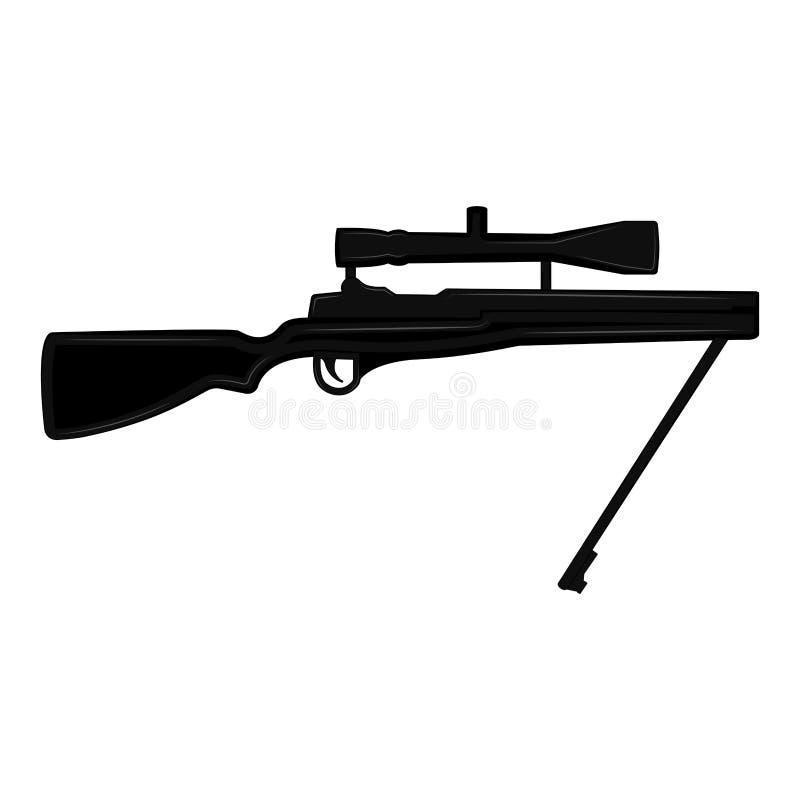 Silhouette d'un fusil de tireur isolé illustration de vecteur