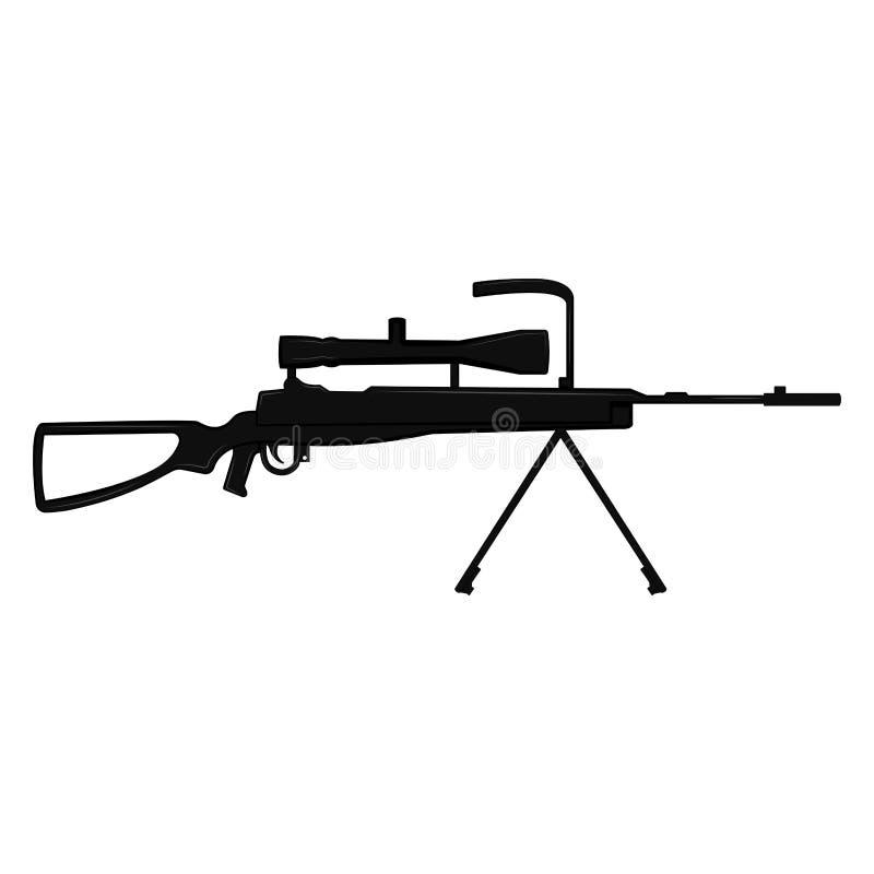Silhouette d'un fusil de tireur isolé illustration stock