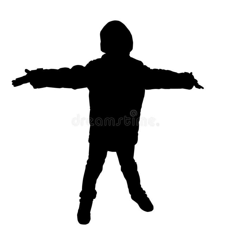 Silhouette d'un garçon illustration de vecteur