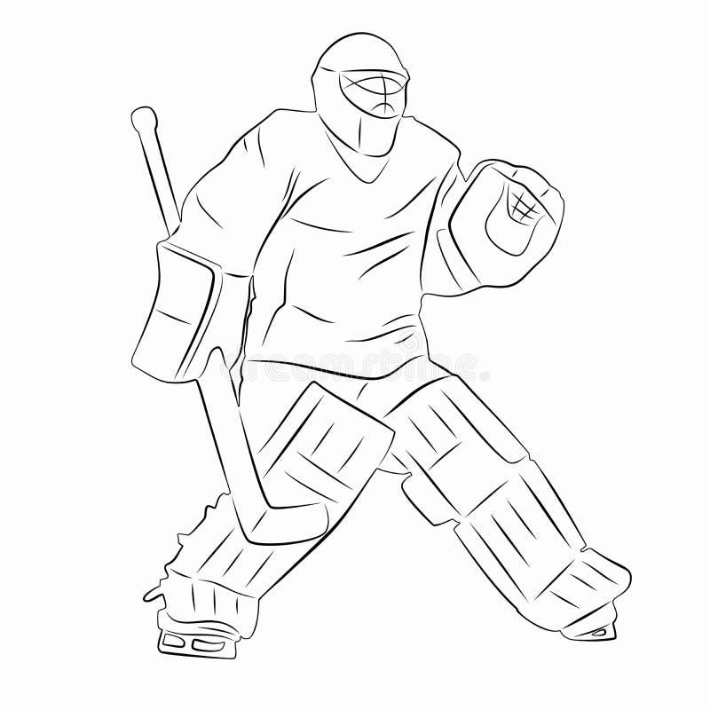 Silhouette d 39 un gardien de but d 39 hockey dirigez le - Dessin gardien de but ...
