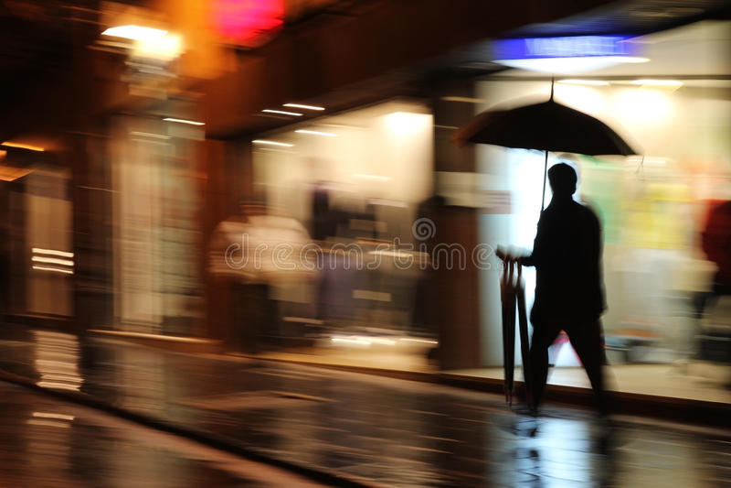 Nuit pluvieuse photo libre de droits
