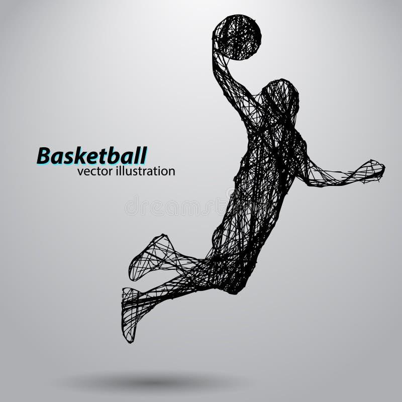 Silhouette d'un joueur de basket photos libres de droits
