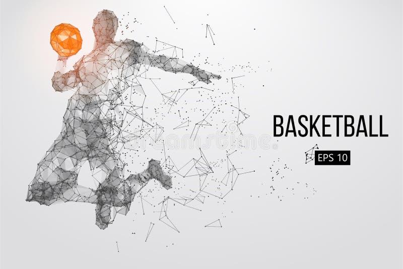 Silhouette d'un joueur de basket Illustration de vecteur illustration libre de droits