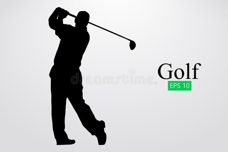 Silhouette d'un joueur de golf Illustration de vecteur illustration stock
