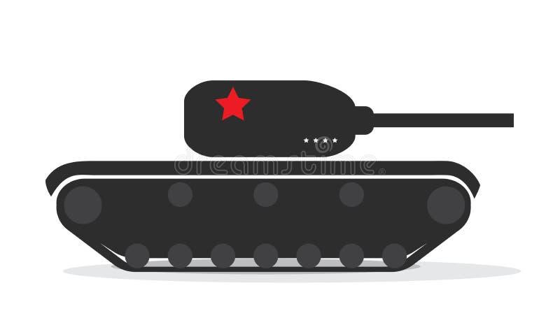 Silhouette d'un réservoir militaire avec des étoiles Illustration de vecteur illustration libre de droits