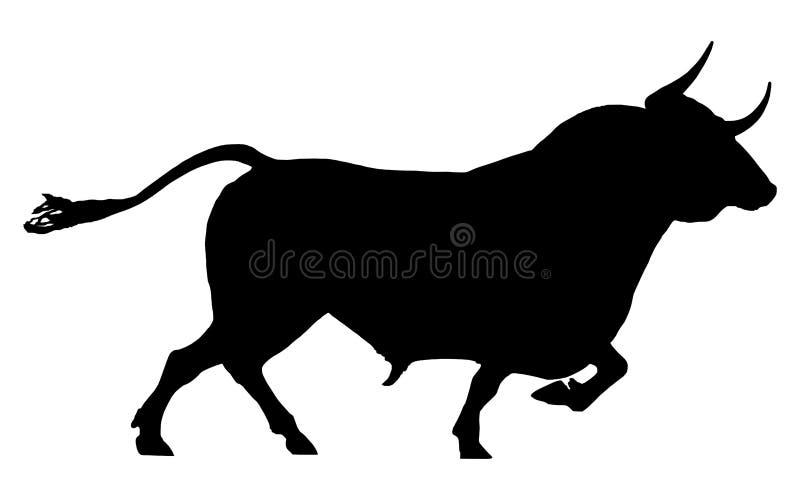 Silhouette d'un taureau illustration stock