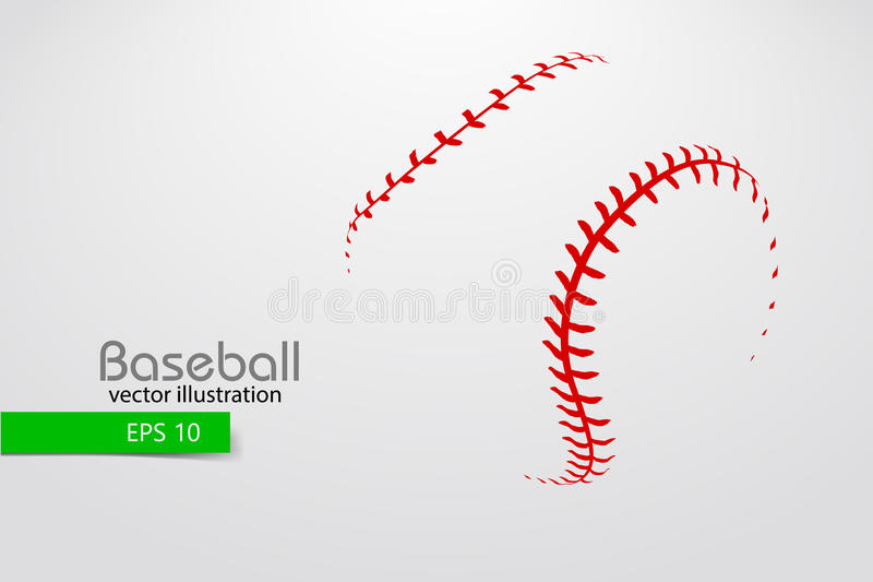 Silhouette d'une boule de base-ball Illustration de vecteur illustration stock