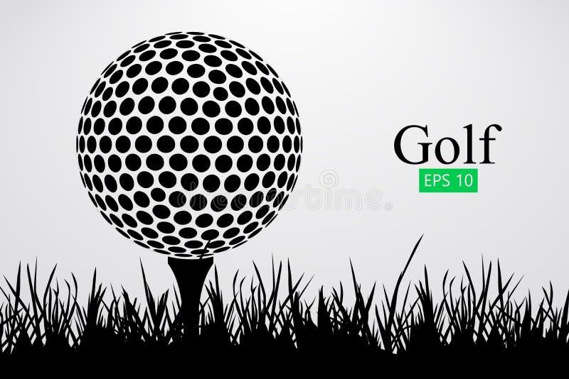 Silhouette d'une boule de golf Illustration de vecteur