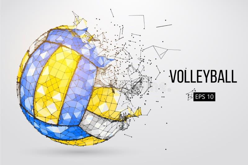 Silhouette d'une boule de volleyball Illustration de vecteur