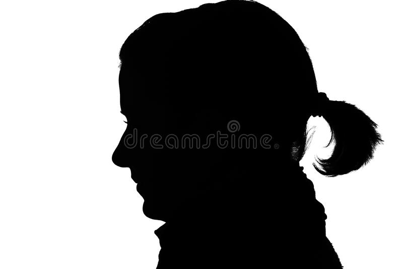 Silhouette d'une fille photographie stock