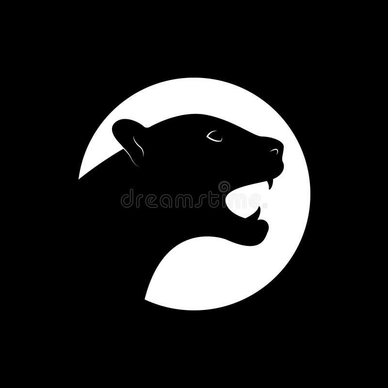 Silhouette d'une panthère noire illustration de vecteur