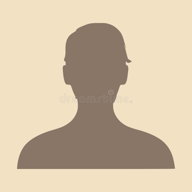 Silhouette d'une tête femelle Vue de profil de visage illustration libre de droits