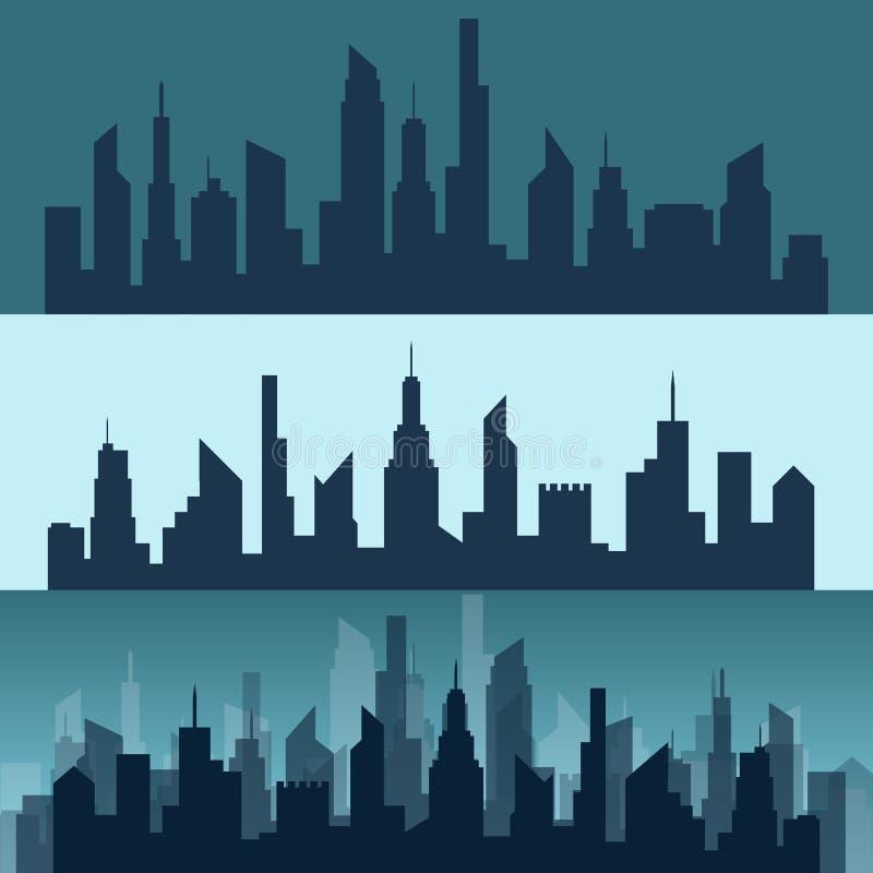 Silhouette d'une ville illustration libre de droits