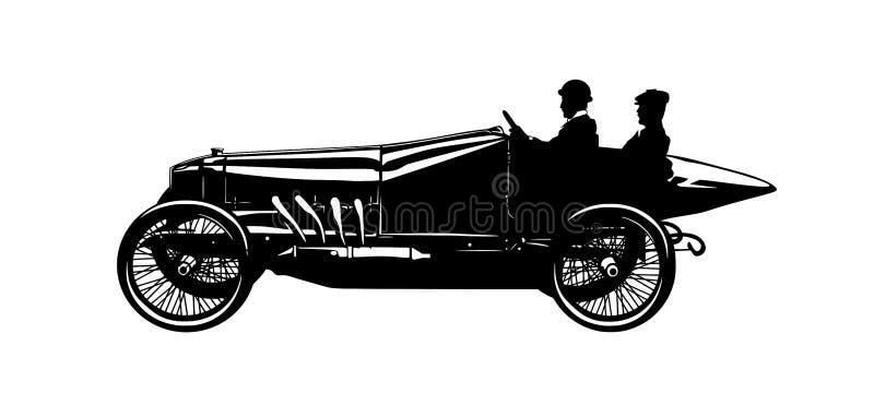Silhouette d'une voiture de vintage image libre de droits