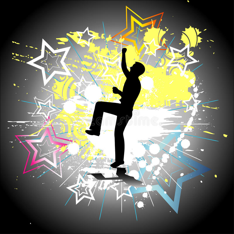 Download Silhouette Of A Dancing Man Stock Illustration - Image: 13271547