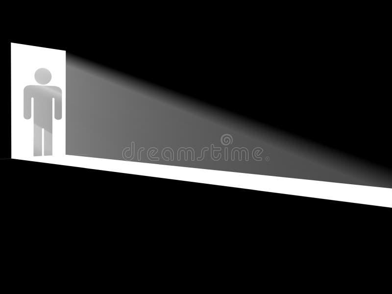 Silhouette dans les trappes illustration libre de droits