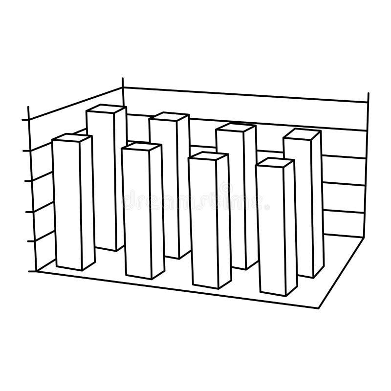Silhouette data statistic graphics concepto. Illustration design stock illustration
