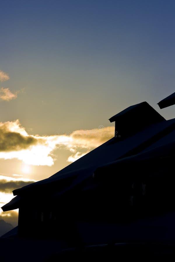 Silhouette de bâtiment image libre de droits